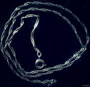 Серебро (цепочка,  серьги)