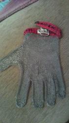 кольчужная перчатка для разделки мяса.новая